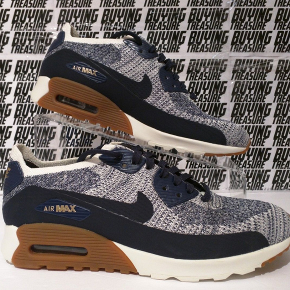 7c78e45faa Nike Shoes | Air Max 90 20 Ultra Flyknit Navy Womens 12 | Poshmark